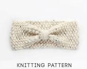 PDF Knitting Pattern Headband, Knit Headwarmer Pattern, Knit Headband Pattern, Knit Headwrap Pattern, Knit Bow Headband - Instant Download