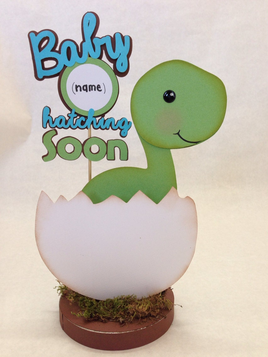 Baby Dino Dinosaur Centerpiece Baby Shower by DivaDecorations