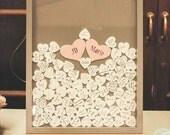 Wedding guestbook 16x20 guest book alternative (140 hearts)