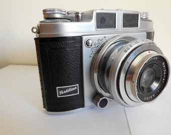 Balda Super Baldina 1950s 35mm Film Camera with Baldinar 50mm Lens Made in Germany