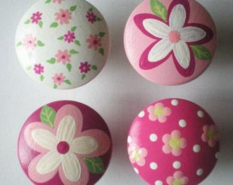 Kids Girls Daisies Galore Drawer Knobs Nursery Cabinet Pulls