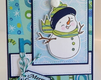 Merry Christmas....Snowman Card