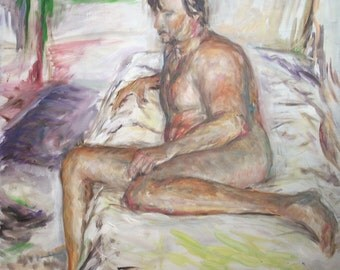 Original Oil Painting- Male Figure