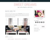 Wordpress theme. Clean, stylish, modern premade responsive wordpress template. Sweet Dreams