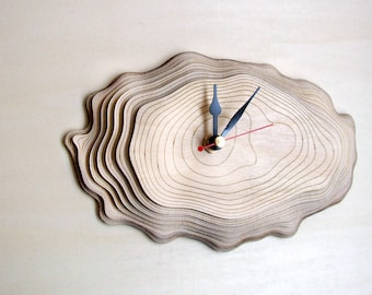 Small Bark clock - unique wall clock