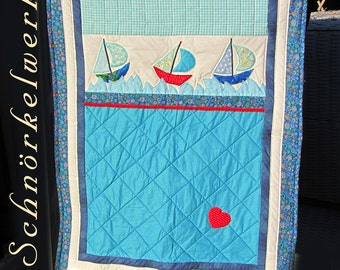 "Quilt; Blanket ""Sailing"""