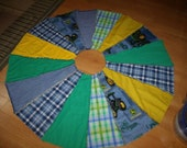 John Deere Rag Quilt Christmas Tree Skirt