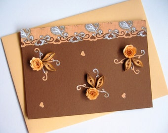 Happy Birthday Card Handmade Quilling Quilled