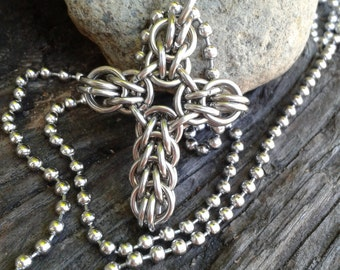 Full Persian Chainmaille Cross Pendant