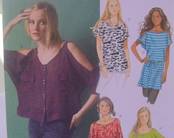 Butterick 5889 Top and Tunic Pattern XS, SM. Med