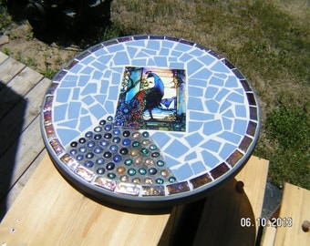 Peacock Mosaic Patio Table