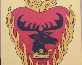 Stannis Baratheon sigil canvas painting from Game of Thrones