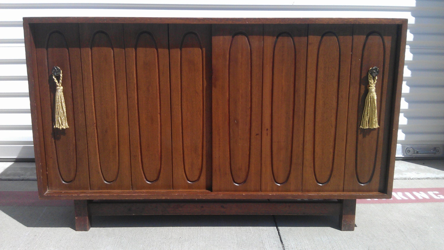 Mid century buffet credenza sideboard midcentury mcm buffet for Sideboard 2 50 m
