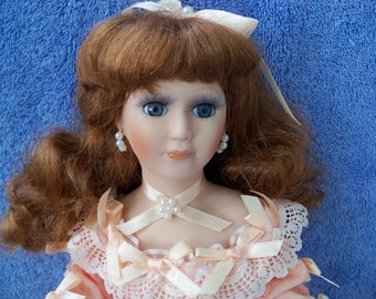 Porcelain lady doll for adoption - Georgette