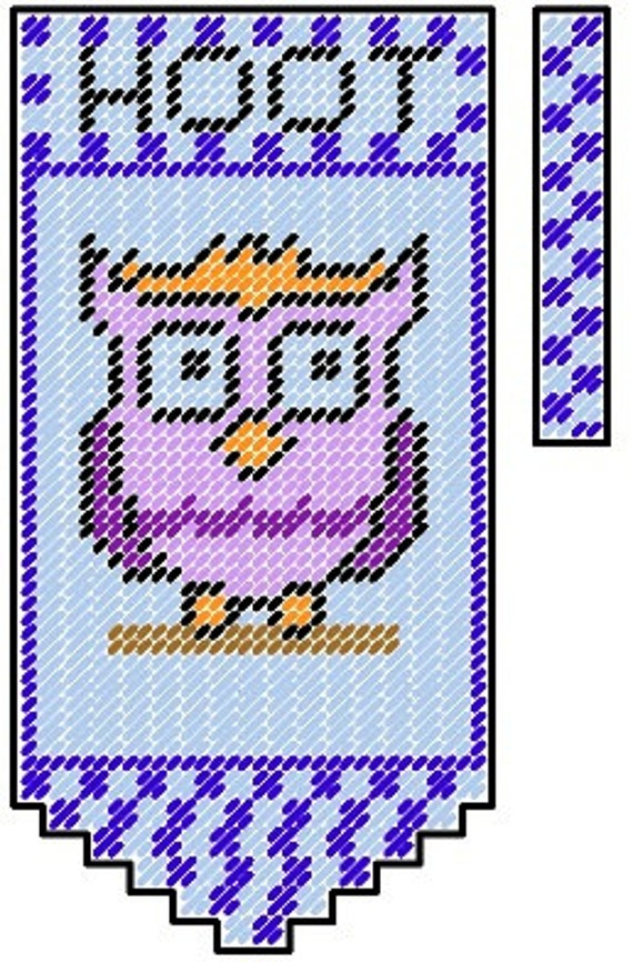 Owl Plastic Canvas Valance Pattern