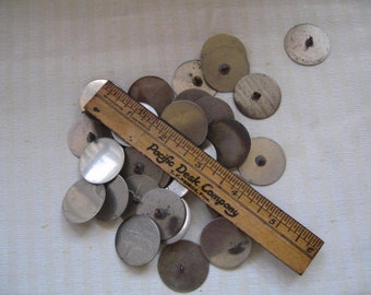 Vintage Metal Buttons with Soldered on Shank 32 total Crafts Sewing Art Destash #01
