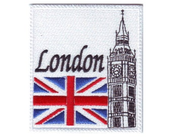 London Big Ben (B) Embroidered Sew On Patch