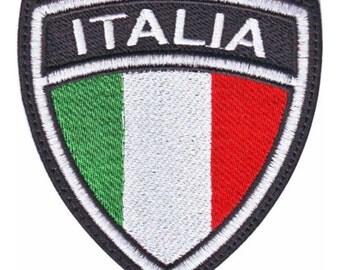 Italy Crest Flag Embroidered Patch