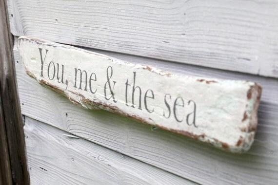 Driftwood Sign Rustic Wall Art Beach House Decor Reclaimed