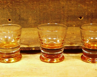 Three Vintage Retro Style Mad Men Shot Glasses