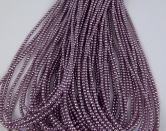 3mm Czech Glass Pearl - 70428 Lilac x 300pcs