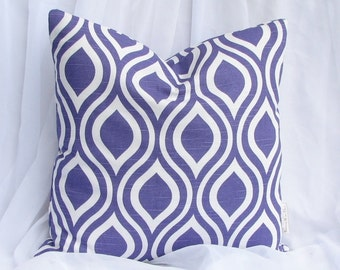 Premier Prints Nicole Slub Purple Decorative Throw Pillow Cover 18x18 inch hidden zipper