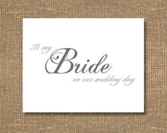 To My Bride on Our Wedding Day - Wedding Card