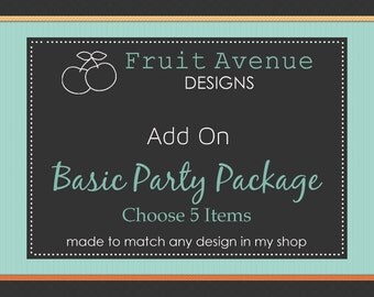 DIY Printable Basic Party Package - Matching Add On