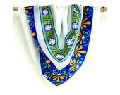 Silk   Scarf - Screen Printed - Greek decorative elements design (35 3/8'' x 35 3/8'') - AnthisBatikArt