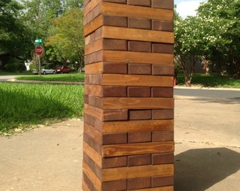 Handmade Giant Toppling Timbers Outdoor Game