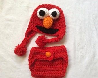 Free Crochet Patterns For Elmo Hat : Items similar to 043 Puppy Dog Newborn Baby Crochet Hat ...