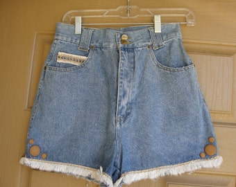 vintage 90s high waisted Chazzz denim shorts small medium size 9
