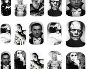 Vintage Movie Monsters - Halloween - Nail Art Decals