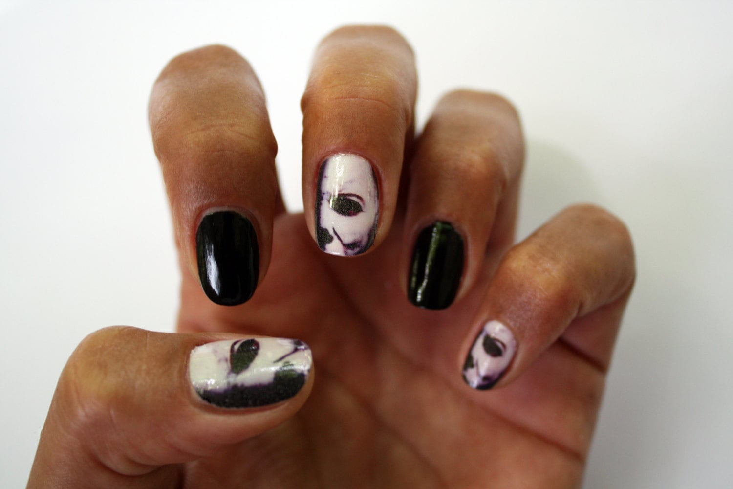 Michael Myers Halloween Nail Art Decals by NailSpin on Etsy