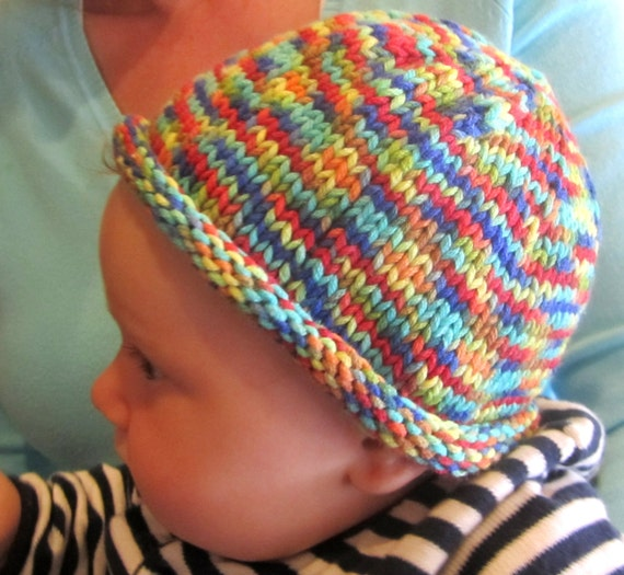 Hand knitted baby hats