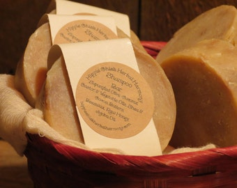 Shampoo Bar, Honey & Beeswax, Hand-Made, Natural Hair Care