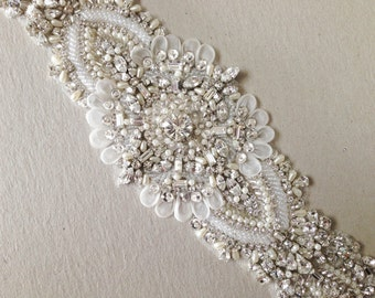 Wedding Gown Sash - Keela 14 inches (Ready to ship)