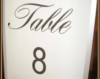 Beautiful Custom Table Numbes and Names!