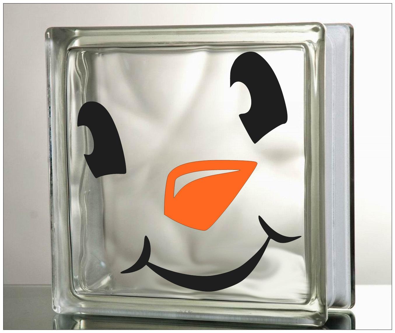 Christmas Vinyl Decals For Glass Blocks