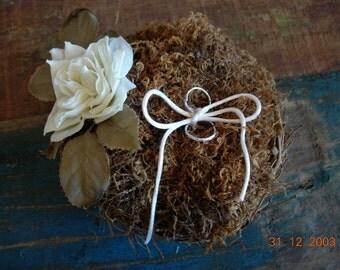 lovely birds nest ring bearer pillow alternative