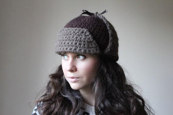 Womens Hats Knit Hats, pilot hat, crochet pilot hat, knit hat with ears, Womens Winter Hat, Russian ushanka, Knit Russian Ear Flap Hat