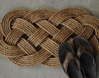 Nautical Rope Rug - Manila Mat - Nautical Decor - (31 x 18)