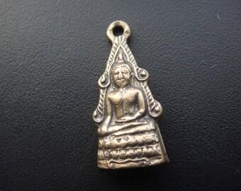 Solid bronze buddha, bronze buddha, buddha charm