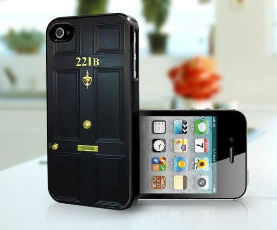 Sherlock Holmes Door 221B Baker Street - iPhone 4 case, iPhone 4s  case, iPhone 5 case custom case