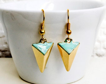 Triangle mint erarrings