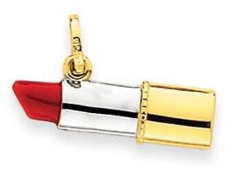 Enameled Red Lipstick Charm (JC-102)