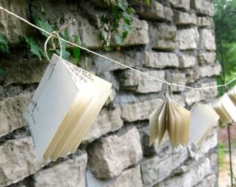 Mini Book Garland-8 ft-Wedding Decor-Wedding Garland-Home Decor-Bunting-Book Garland-Paper Garland-Teacher Classroom