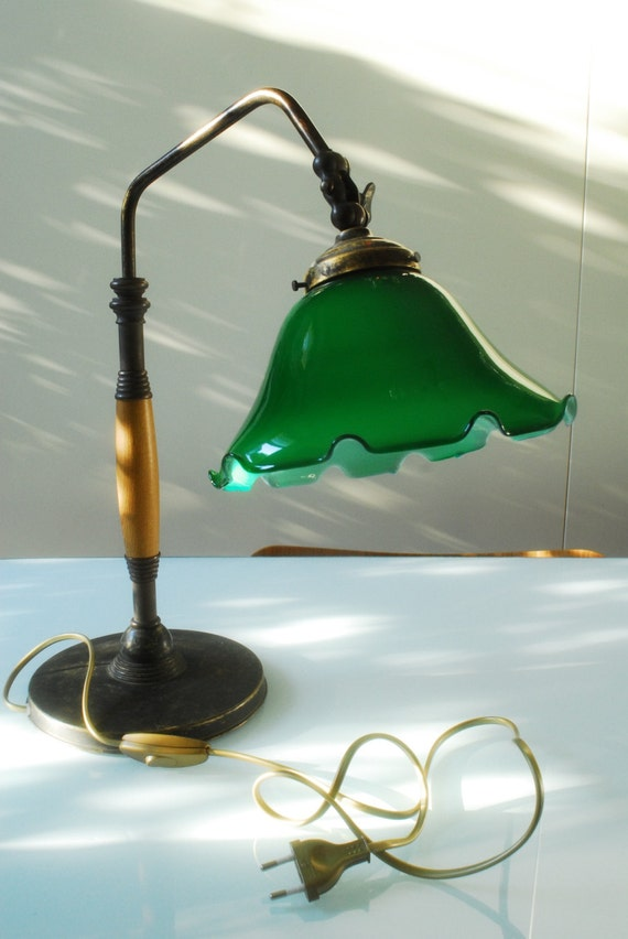 Victorian Style Vintage Bankers Lamp Desk Lamp By Siouxsalvage