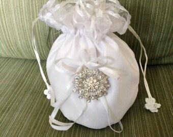 Bridal Money Bag, Bridal Purse, Wedding Money Bag, Bridal Dance Bag, Satin Bridal Bag