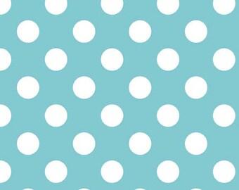 Medium Aqua Dots Riley Blake Medium Aqua Blue Polka Dots By The Yard